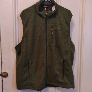 NWT Orvis Mens Size XXL Vest Full Zip  Army Green
